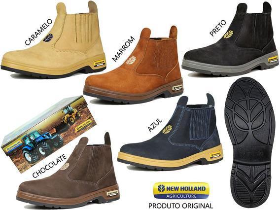 Botina New Holland Couro Nobuck Original Enh2201 Promoção