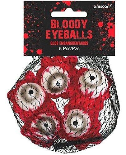 Asylum Bloody Eyeballs, 5 Piezas, Hecho De Plastico, 6  Alt.