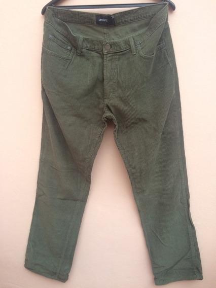 Pantalon Ufo Nyc Corderoy Hombre Verde Recto Talle 34 O 44