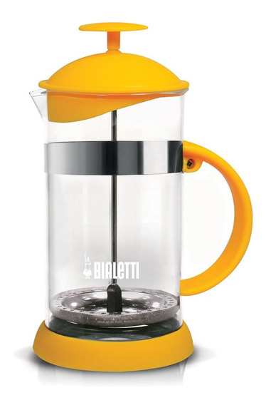 Cafetera Prensa Francesa Bialetti 1 Litro Amarillo Vidrio