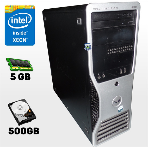 Workstation 490 Intel Xeon Dual Core 2.66ghz X4, 5gb, 500gb