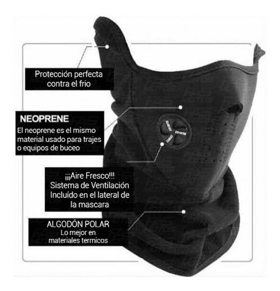 Mascara Neoprene Cuello Pechera Termico Polar Frio Moto Fas!