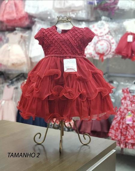 Vestido De Infantil Festa Luxo Nelu Ref: 2406