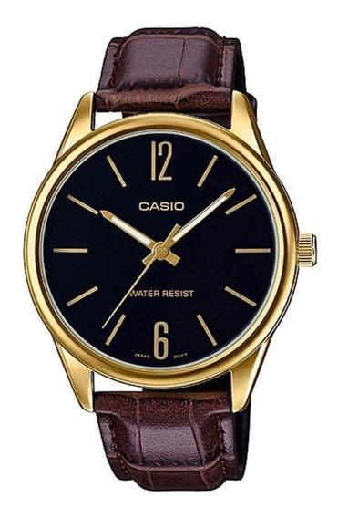 Relógio Masculino Casio Analógico Mtpv005gl1bu Dourado/marro