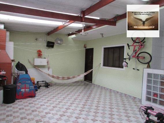 Sobrado Com 02 Suítes , 02 Vagas De Garagem E Churrasqueira Residencial À Venda, Jardim Utinga, Santo André. - So0141