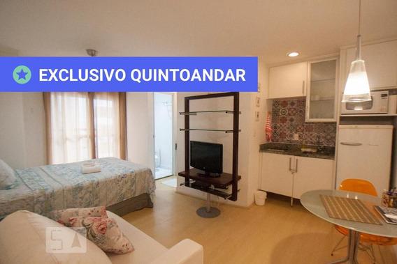 Studio No 9º Andar Mobiliado Com 1 Dormitório E 1 Garagem - Id: 892943797 - 243797