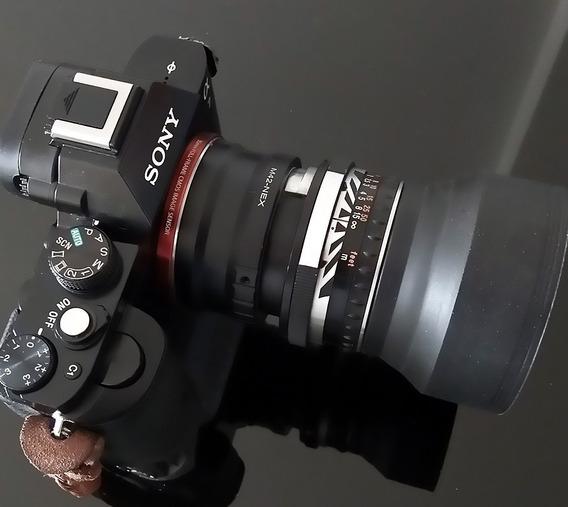 Lente Zeiss Pancolar 50mm F 2.0+ Adaptador Sony, Leia Com Atenção!