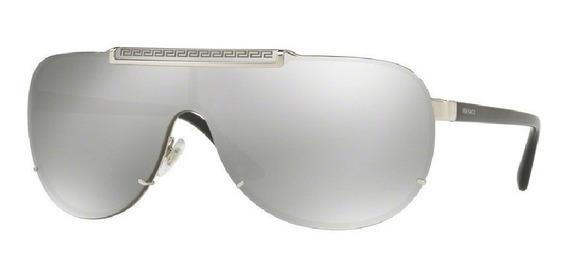 Lentes Versace Ve2140 10006g Silver Original Lo Mas Nuevo