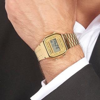 Reloj Casio A-168wg Retro Vintage Gold Luminiscente