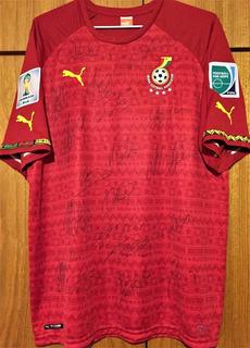 Camisa De Gana Copa Do Mundo 2014 Autografada Todo Elenco
