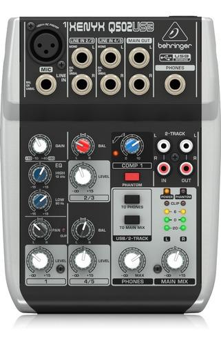 Consola De Audio Behringer Xenyx Q502usb 5 Input Usb