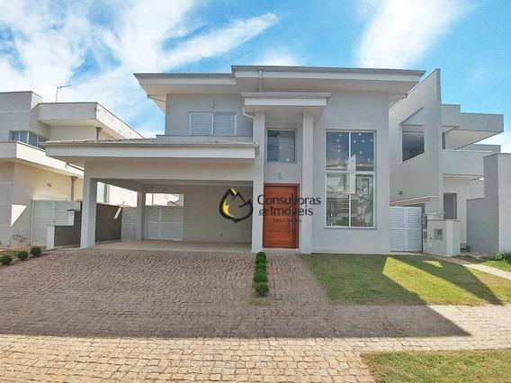 Casa Com 4 Dormitórios À Venda, 252 M² Por R$ 1.350.000 - Residencial Villa Lobos - Paulínia/sp - Ca0266