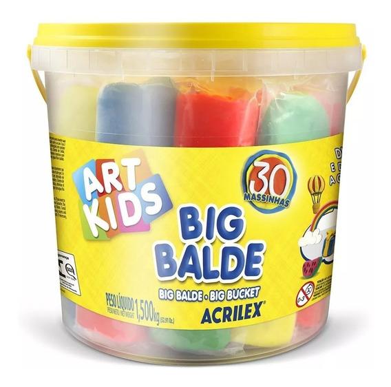 Massinha De Modelar Big Balde Art Kids 30 Acrilex 40023
