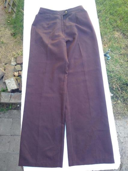 Pantalon De Vestir Vintage Marron Talle 1