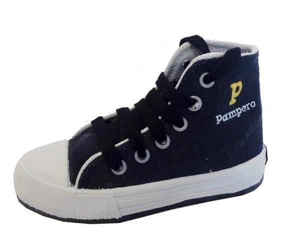 Zapatillas Botitas Lona Niño Niñas Marca Pampero Mod Jose