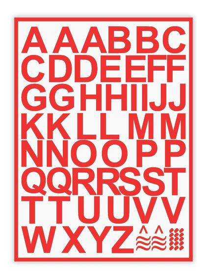Adesivos Letras P/ Carro Vitrine Parede 3cm Altura - 5 Un