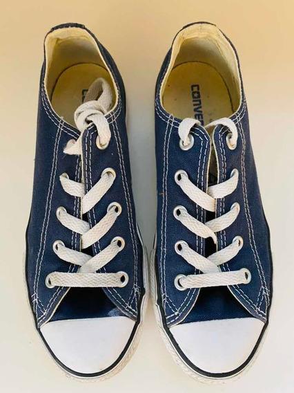 Zapatillas Converse Azul Talle 1.5us 33 Eur