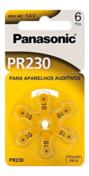 Pilha Auditiva Zinco Air Panasonic Pr230 5 Cartela Com 6 Un.