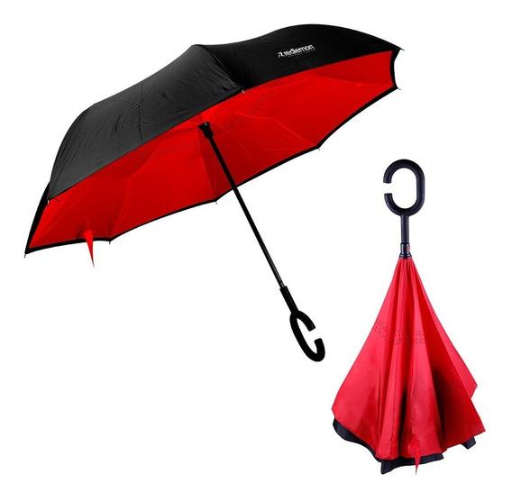 Redlemon Paraguas Invertido Doble Refuerzo Resiste Vientos