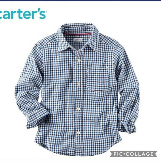Camisa Carters Infantil Manga Longa