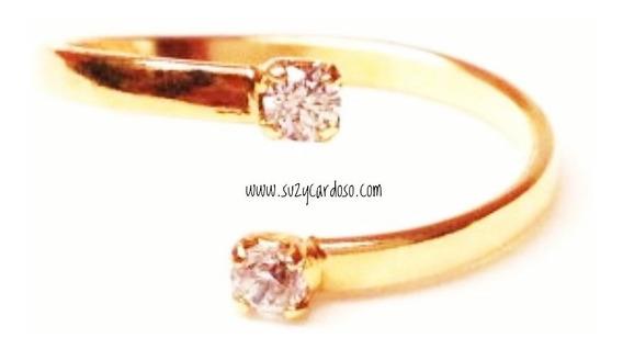 Anel Desencontro Ouro 18k Diamante
