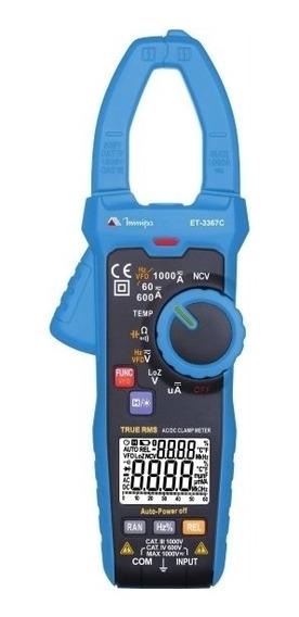 Alicate Amperímetro Digital True Rms Et-3367c Minipa