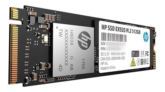 Disco Duro Solido Ssd Hp Ex920 M.2 512gb 3200mb/s Pciexpress