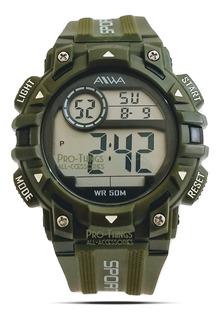 Reloj Aiwa Hombre Sumergible 50m Sport Alarma Crono Luz