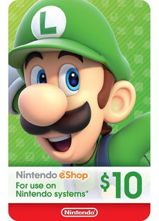 Nintendo Eshop 10 / Ds - Nintendo Switch - Wii U