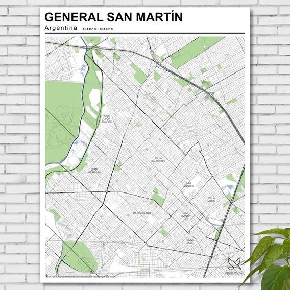 Mapa Partido General San Martín 80cmx61cm