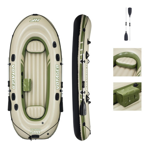 Bote Inflável Hydro-force 3 Pessoas Voyager 500 3,48m X 1,4