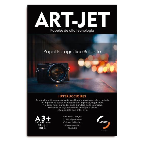 Papel Fotográfico Brillante A3+ 200gr X 20 Hojas Art-jet®