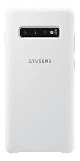 Capa Protetora Silicone Samsung S10+ Branco