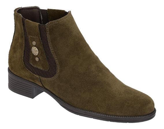 Bota Feminina Botina Chelsea Boots Country Couro Legitimo