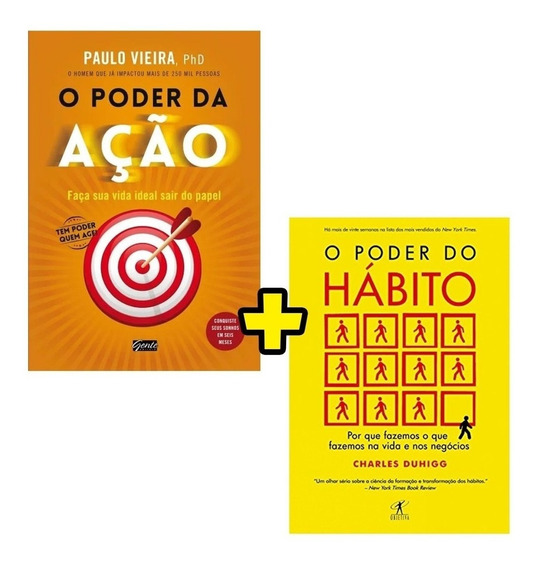 Kit Livro O Poder Do Habito + O Poder Da Ação Envio Rápido