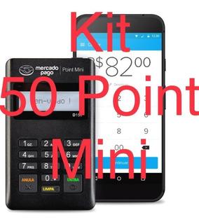 Kit 50 Maquina Cartão Pointmini R$9,02 Fretgrátis 12xs/juros
