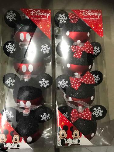 Imagen 1 de 3 de Esferas Navideñas De Mickey Mouse Y Minnie