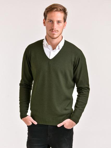 Sweater Escote En V Hilado Cristal Mauro Sergio !