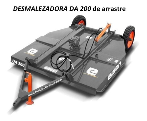 Desmalezadora De Arraste Nueva Marca Eisen Modelo Da 200