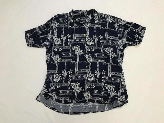 Camisa Nautica Hombre Talla Xxl Hawaiana Azul Marino