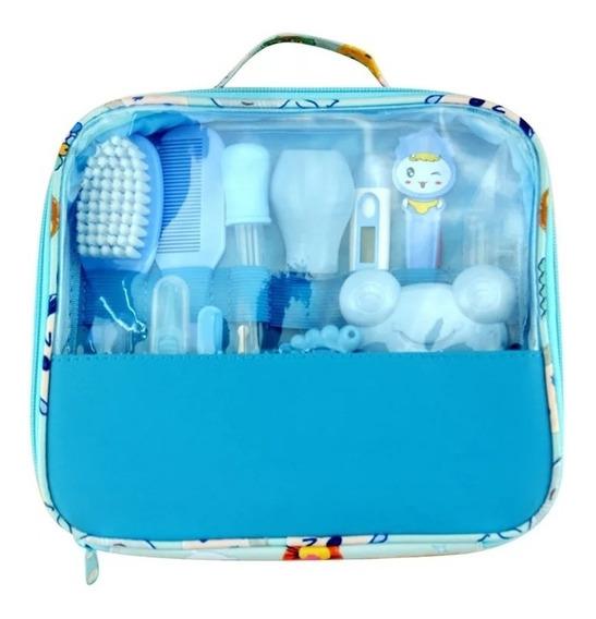 Kit Bebê Higiene,escova,termômetro,tesoura, Pente - 13 Pçs