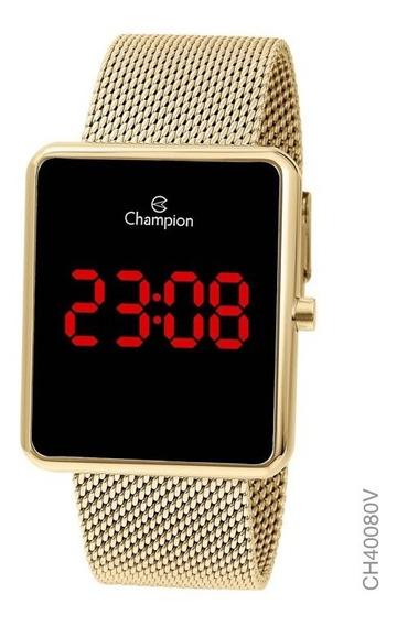 Relógio Digital Feminino Champion Dourado