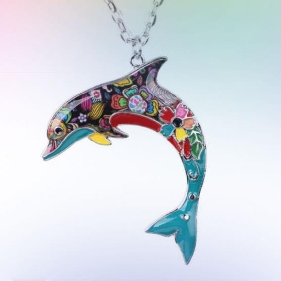 Colar Esmaltado Coleção Oceano Golfinho