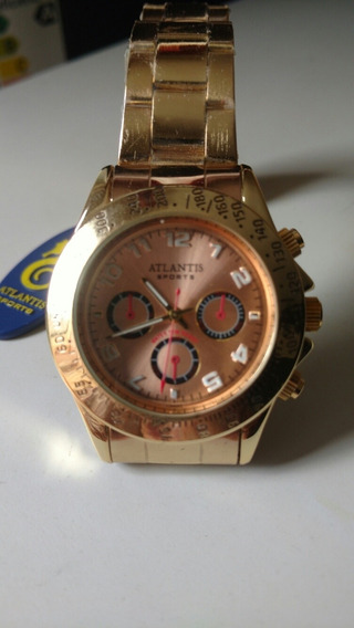 Relógio Atlantis Dourado Estilo Original
