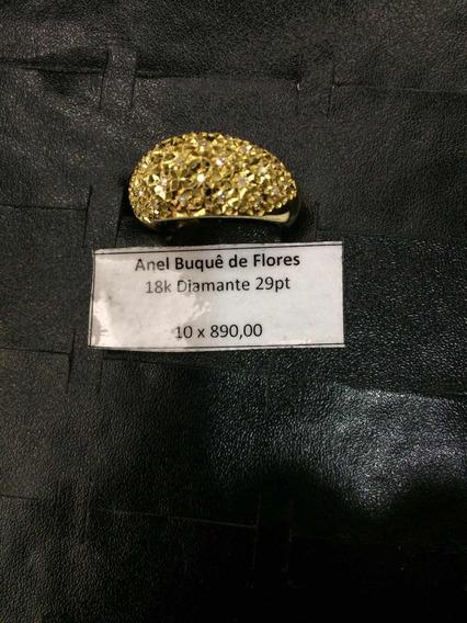 Anel Flores De Diamantes