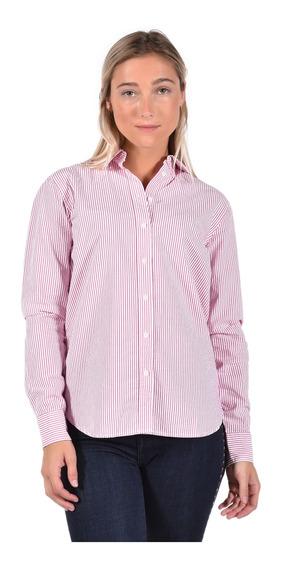 Camisa Regular Fit Tommy Hilfiger Rojo Ww0ww25300-607 Mujer