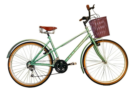Bicicleta Vecchio Vintage Retro Rodada 26 Con 6 Vel