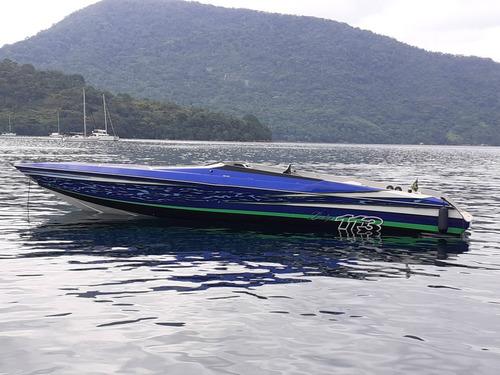 Imagem 1 de 15 de Intermarine Cougar 42 Mercedes Megatech 2x400hp 1994/2019
