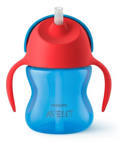 Vaso Avent Entrenador Straw Cup Para Nene X 200 Ml