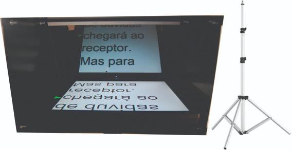 Teleprompter C/ Tripé + Monitor Lcd 17 - Caixa Preta